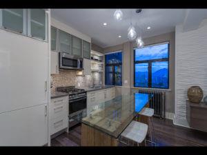 Clean, modern, white kitchen