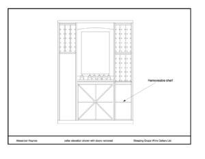 design plan for home renovation wine cellar