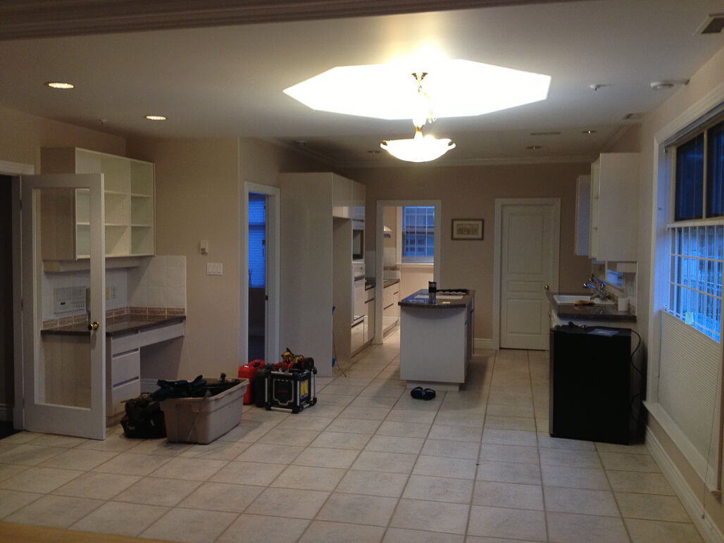 Before - Small outdated kitchen needing some love.