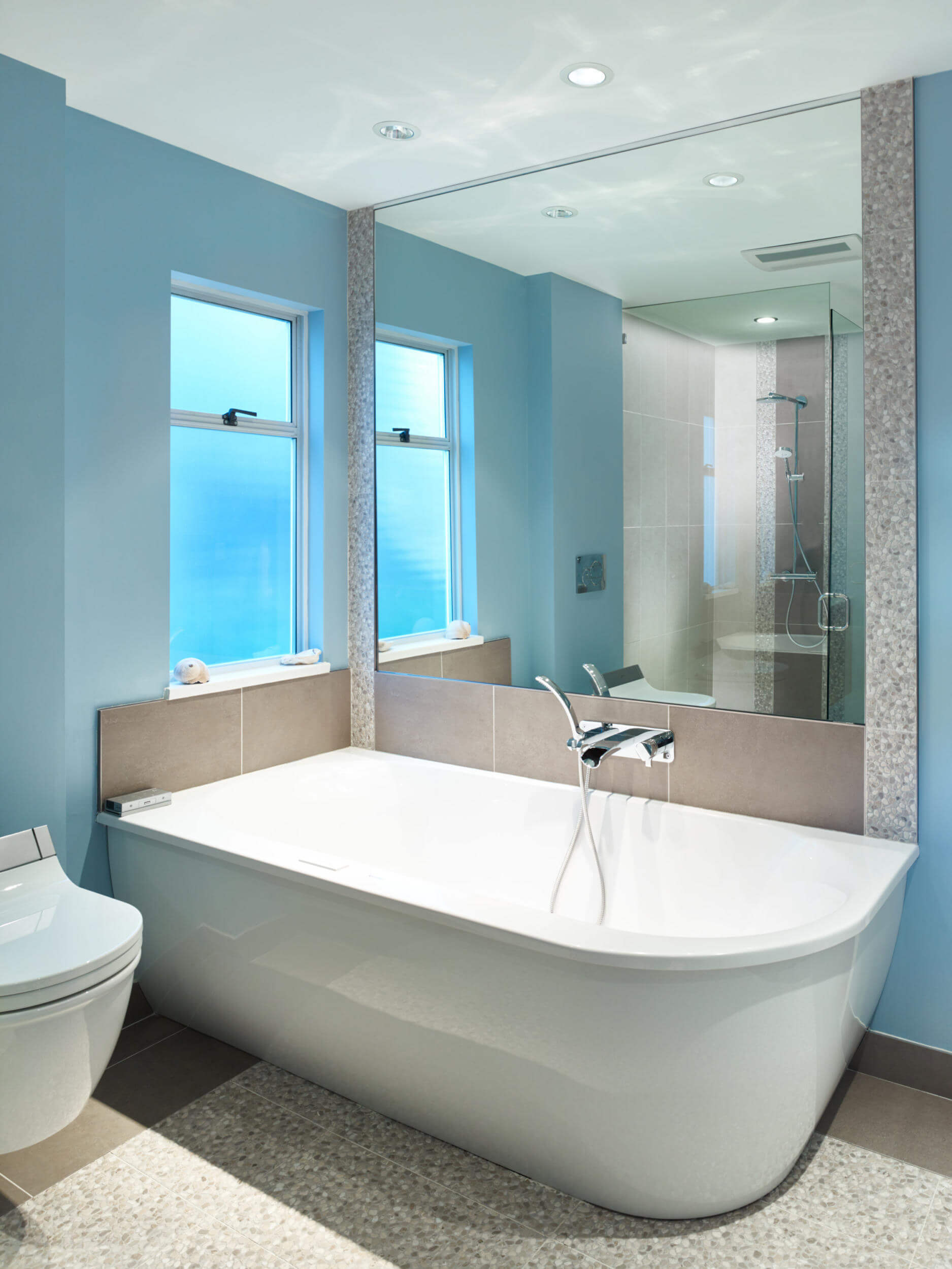 blau badezimmer bathroom renovation revision custom On badezimmer renovation
