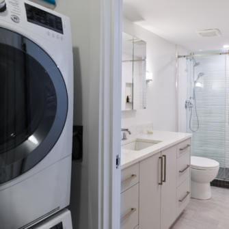 New Laundry Area Condo Renovation