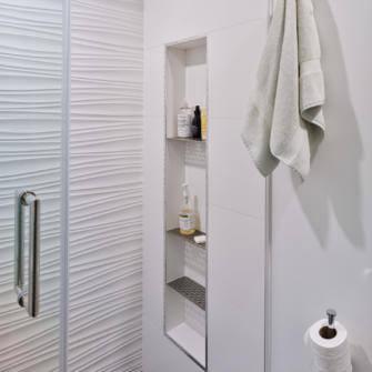 New Shower Niche Condo Renovation
