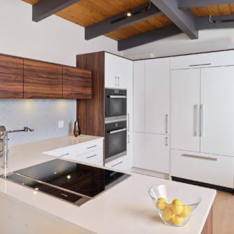 Kitchen Peninsula, Wall Ovens and Pantry Renovation - After