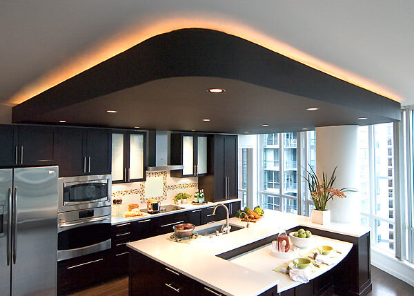 Vancouver condo renovations by revision custom home for Condo kitchen lighting