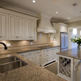 Kitchen renovation in white