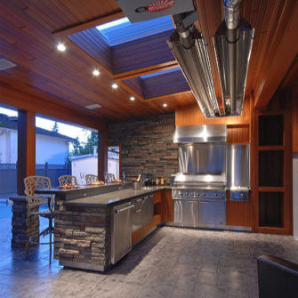 Outdoor kitchen renovation