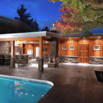 Outdoor pool area renovation