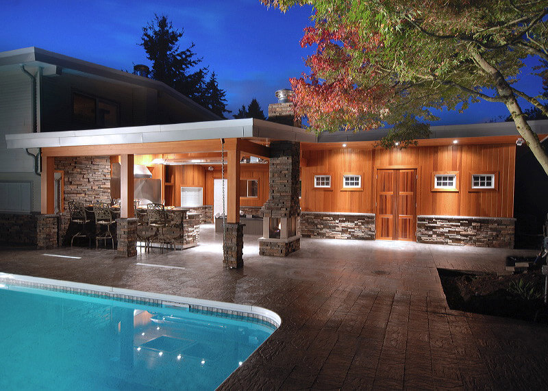 Pool Area Renovations : Vancouver outdoor kitchens by revision custom home renovations