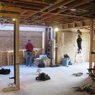 During renovation