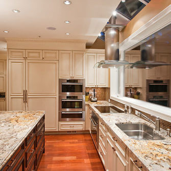 Kitchen Renovation marble counter tops