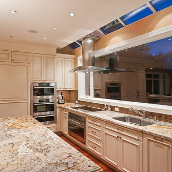 Kitchen Renovation with marble counter tops
